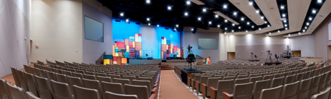 ESS designs and installs Auditorium Sound Systems for churches, schools, and other organizations